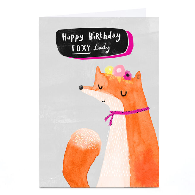 Personalised Andrew Thornton Birthday Card - Foxy Lady