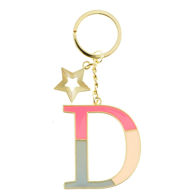 Letter D Alphabet Keyring