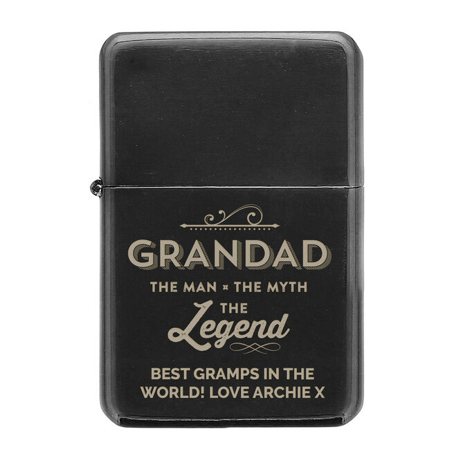 Personalised Lighter - Grandad The Legend