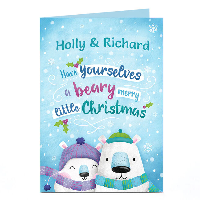 Personalised Christmas Card - Beary Merry Little Christmas