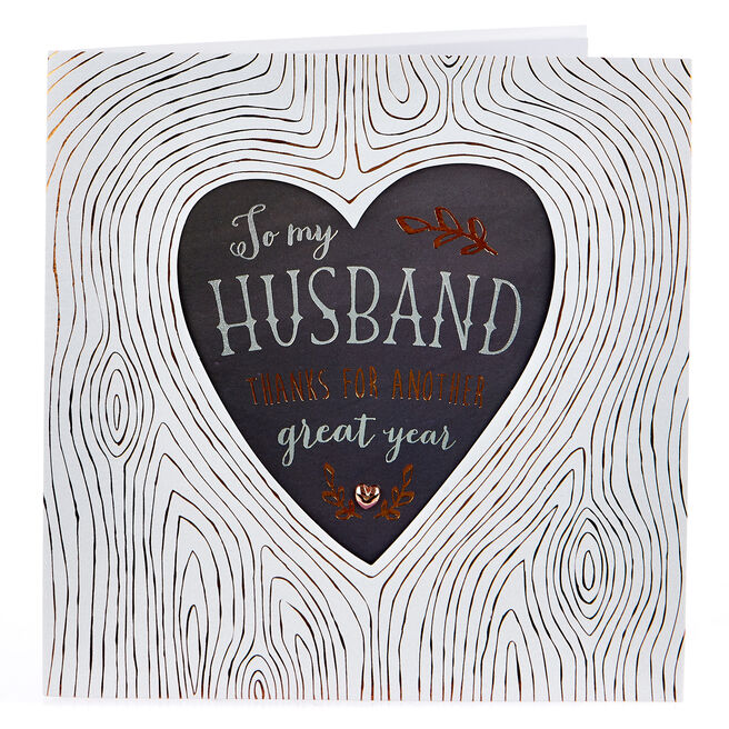 Exquisite Collection Anniversary Card - Husband, Great Year