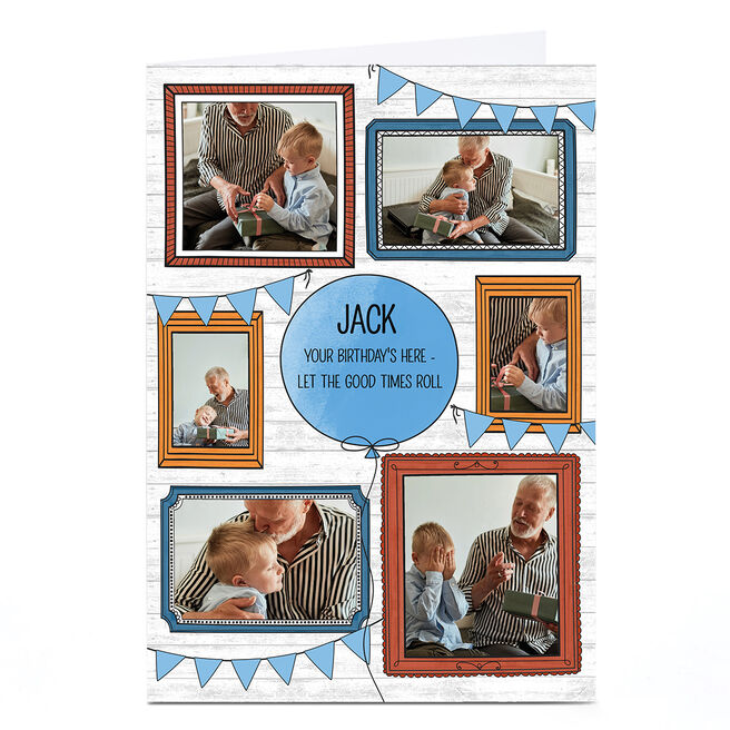 Personalised Birthday Photo Card - Frames & Bunting
