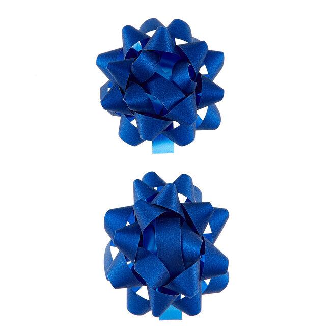 Navy Glitter Gift Bows - Pack Of 2