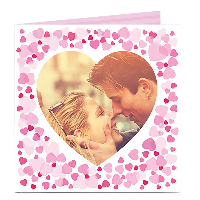 Photo Upload Card - Heart Shaped Box