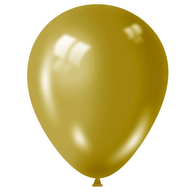 Metallic Gold Latex Balloons - Pack Of 50