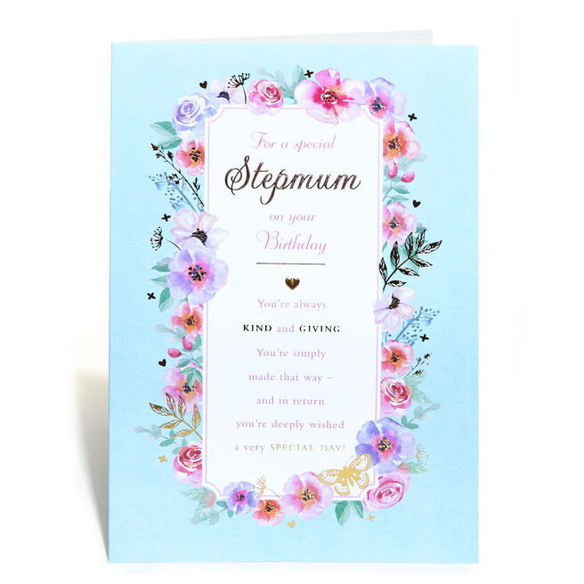 Birthday Card - For A Special Stepmum