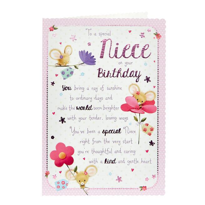 Birthday Card - Special Niece, Cute