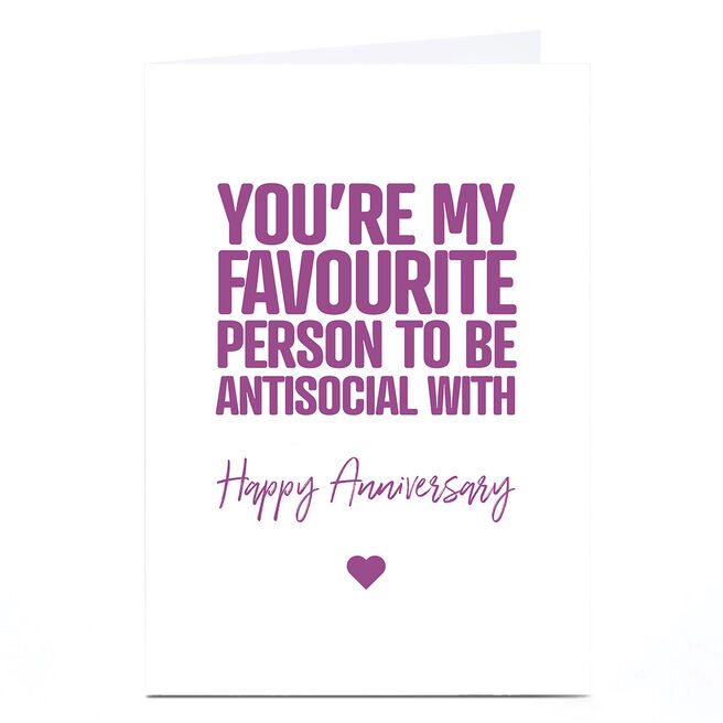 Personalised Punk Anniversary Card - You're my Favourite