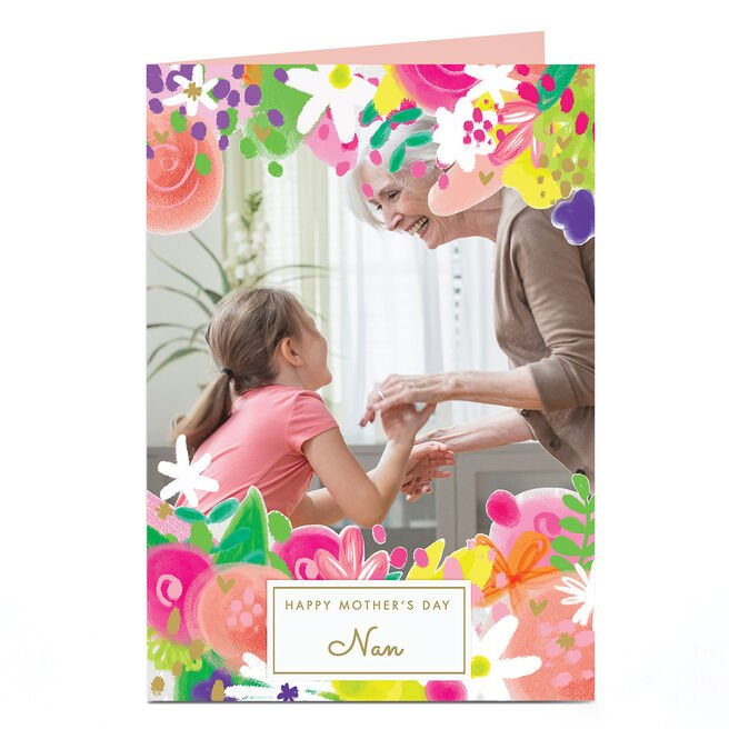 Photo Mother's Day Card - Floral Edges