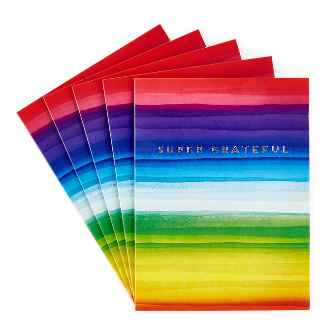 Super Grateful Thank You Cards - Pack of 12