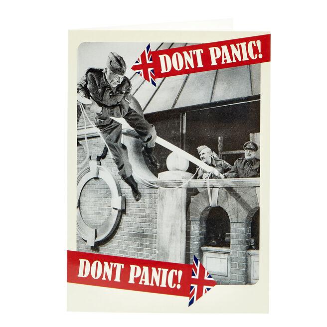 Dad's Army Birthday Card - Don't Panic