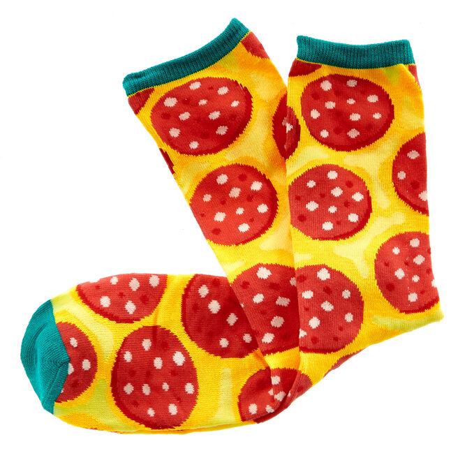 Dad's Cheesy Feet Socks In A Pizza Box