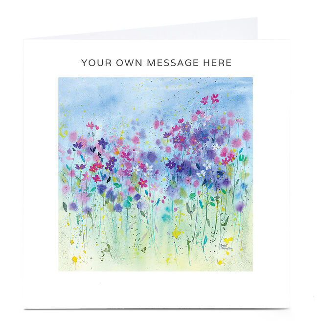 Personalised Card - Watercolour Flowers
