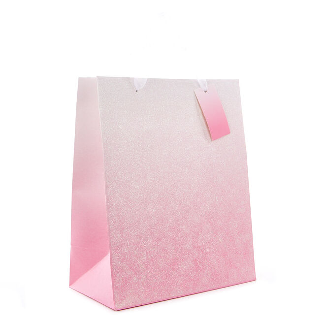 Medium Portrait Gift Bag - Pink Ombre