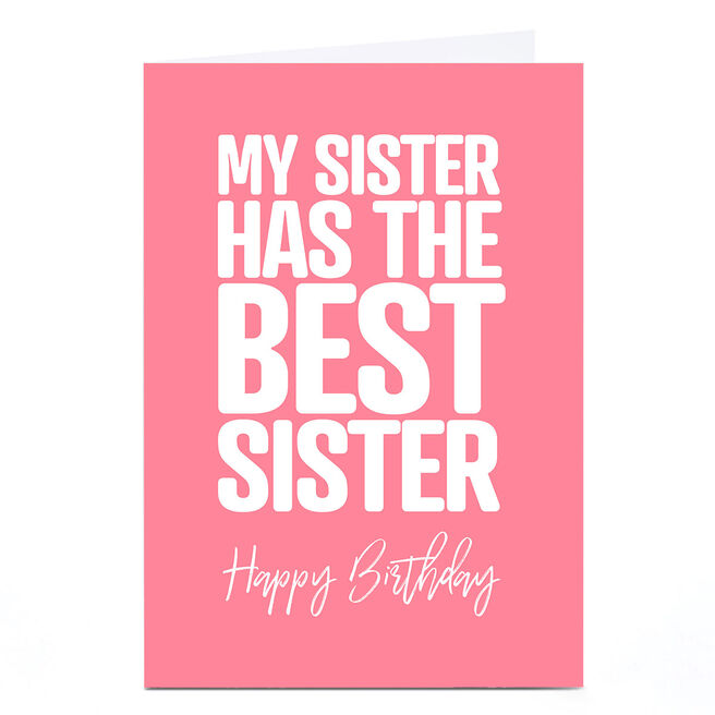 Personalised Punk Birthday Card - Sister From Sister