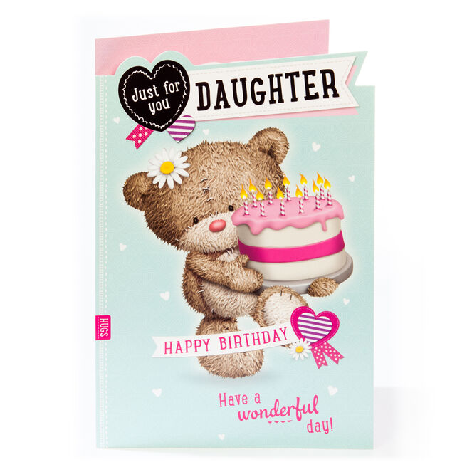 Giant Hugs Bear Birthday Card - For You Daughter