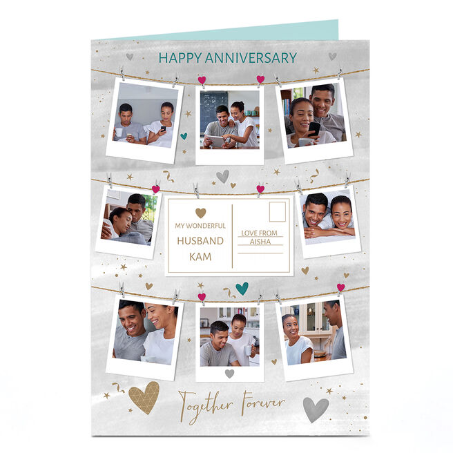 Photo Anniversary Card - Husband Together Forever