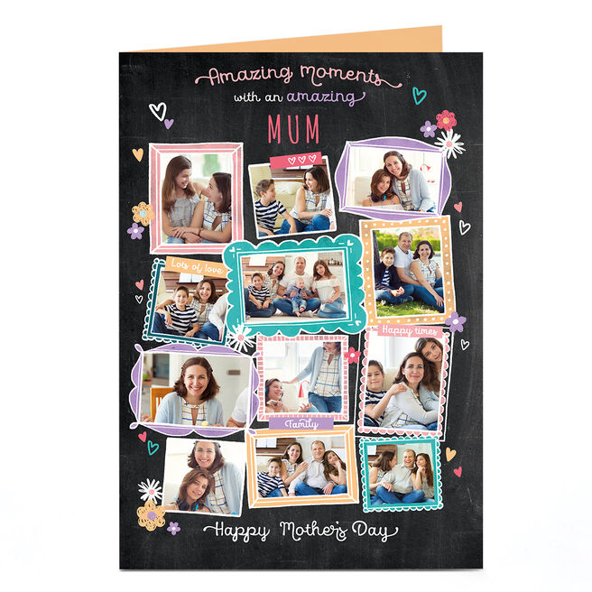 Personalised Mother's Day Photo Card - Amazing Moments