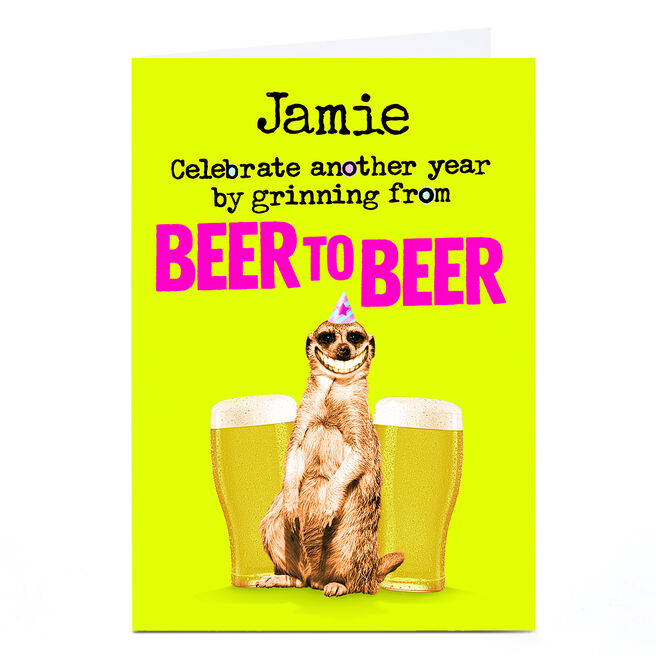 Personalised PG Quips Card - Beer To Beer