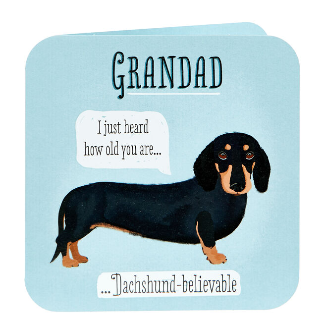 Birthday Card - Grandad, Sausage Dog
