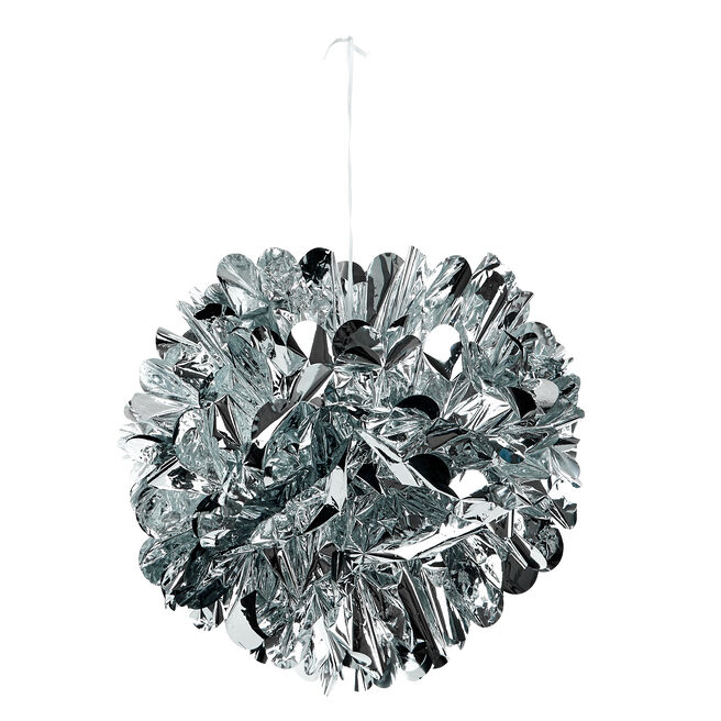 Foil Pom-Pom Party Decoration - Silver