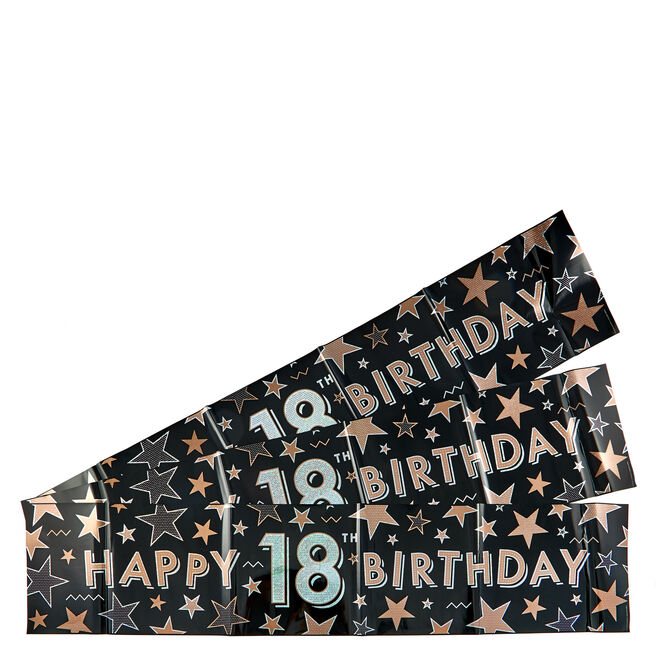 Holographic 18th Birthday Party Banners - Pack Of 3