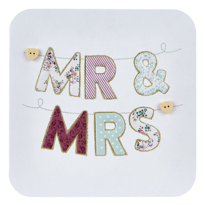 Boutique Collection Wedding Card - Mr & Mrs