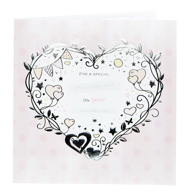 Exquisite Collection Christening Card - Female Recipient (With Stickers)