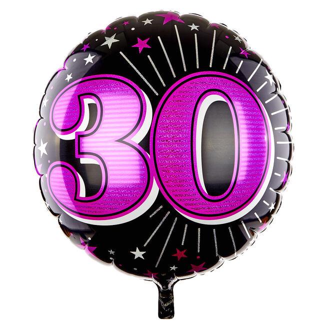 31 Inch 30th Birthday Helium Balloon - Pink
