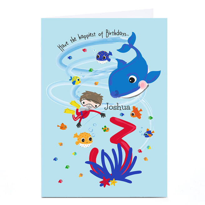 Personalised Rachel Griffin Birthday Card - 3, Happiest Of Birthdays