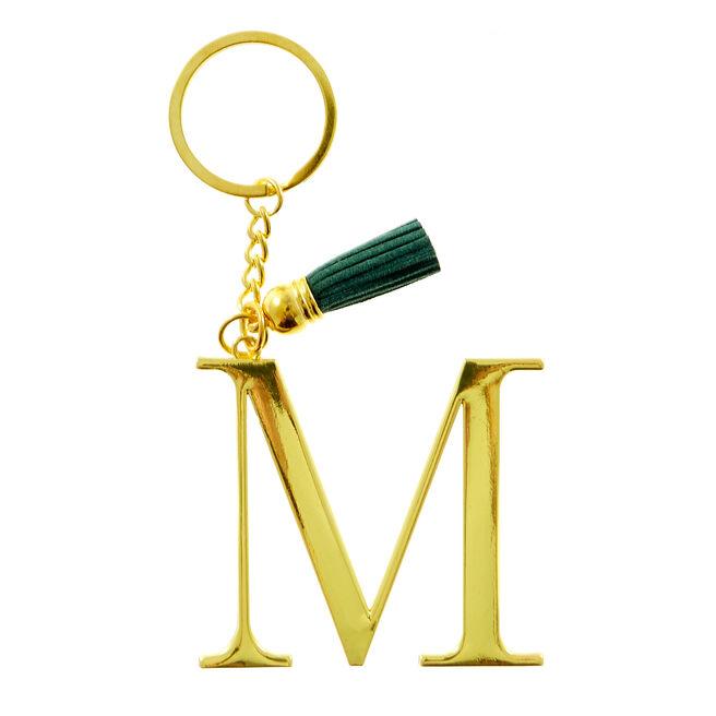 Letter M Key Ring