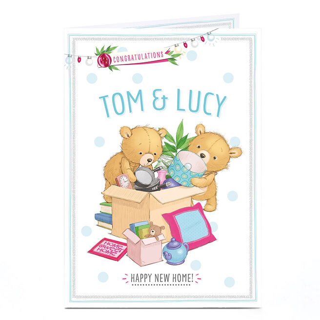 Personalised New Home Card - Two Bears Happy Home
