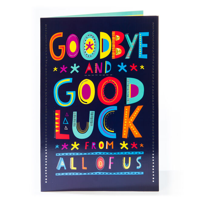 Giant Goodbye & Good Luck Card
