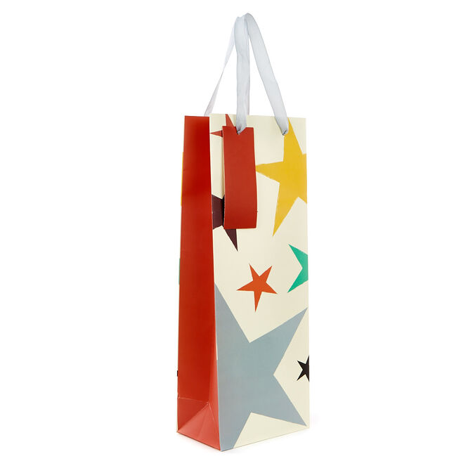 Bottle Gift Bag - Coloured Stars