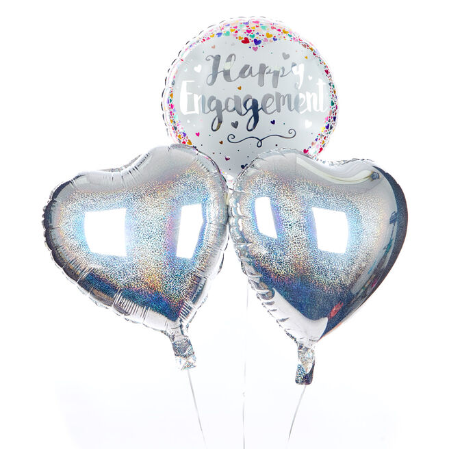 Happy Engagement Balloon Bouquet - The Perfect Gift!