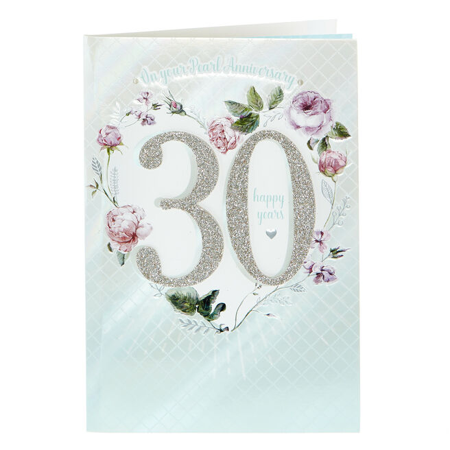 30th Anniversary Card - On Your Pearl Anniversary