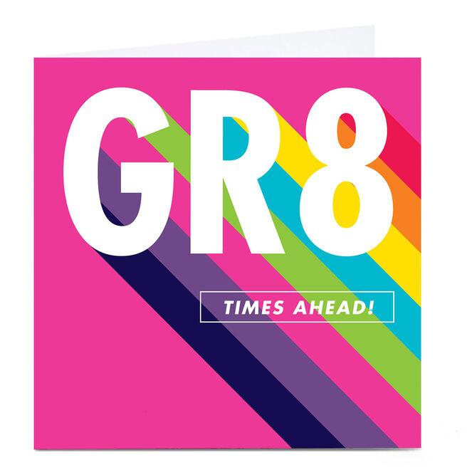 Personalised Hello Munki Card - GR8 Times Ahead