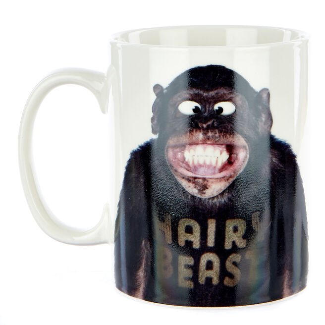 "Large Hairy Beast"" Monkey Mug"""