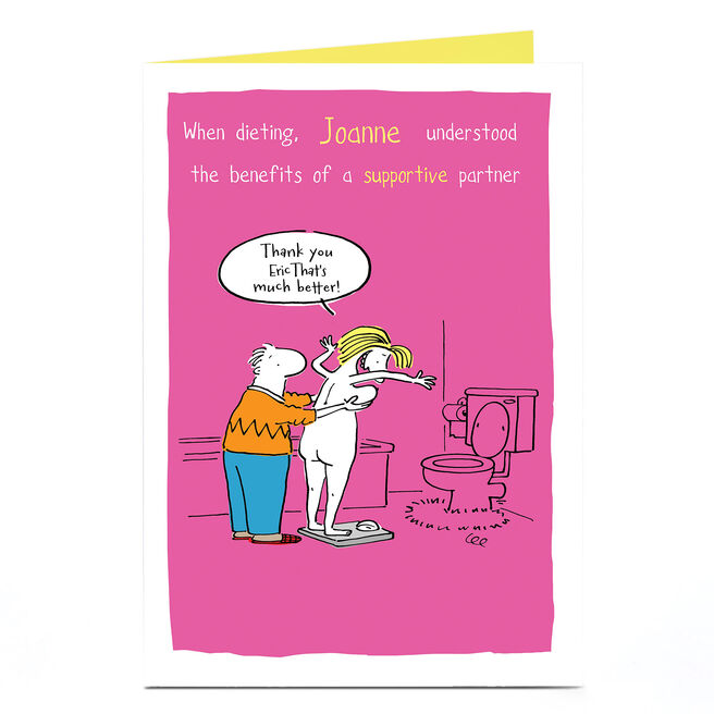 Personalised Card - Supportive Partner Cartoon