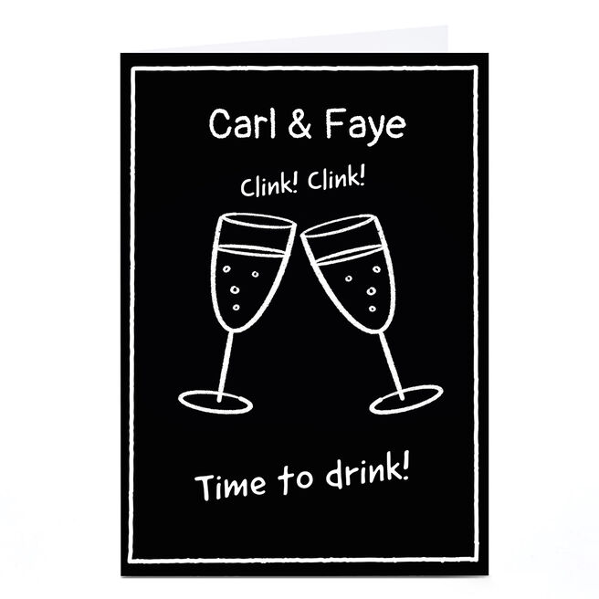 Personalised Scrawls Card - Time to Drink
