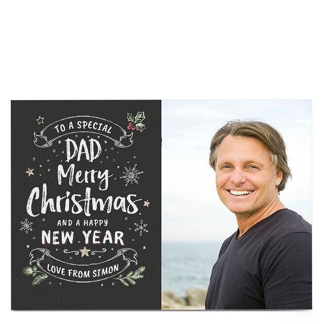 Photo Christmas Card - To A Special Dad