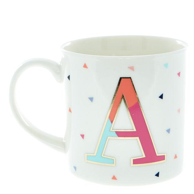 Letter A Alphabet Mug