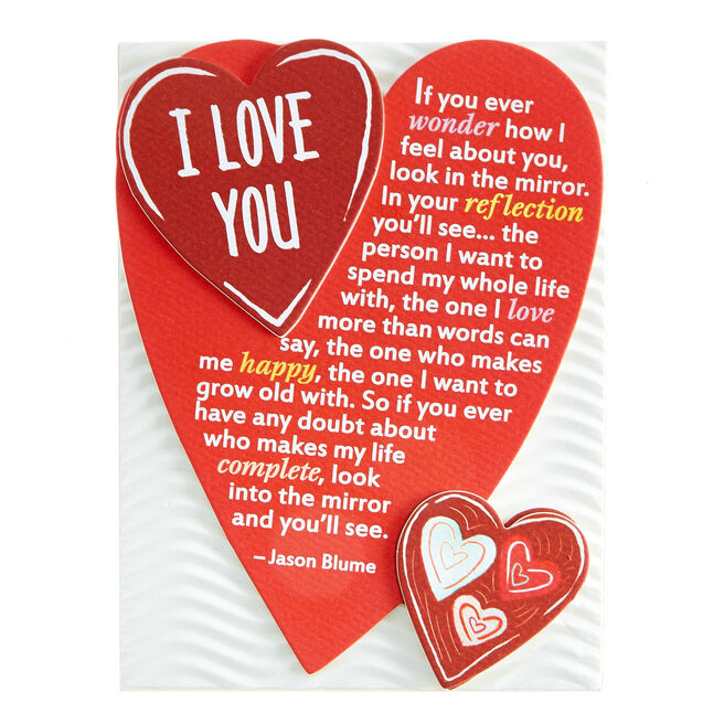 Blue Mountain Arts Magnet With Stand - I Love You