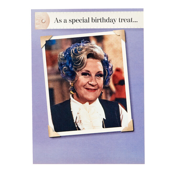 Are You being Served Birthday Card - Special Treat...