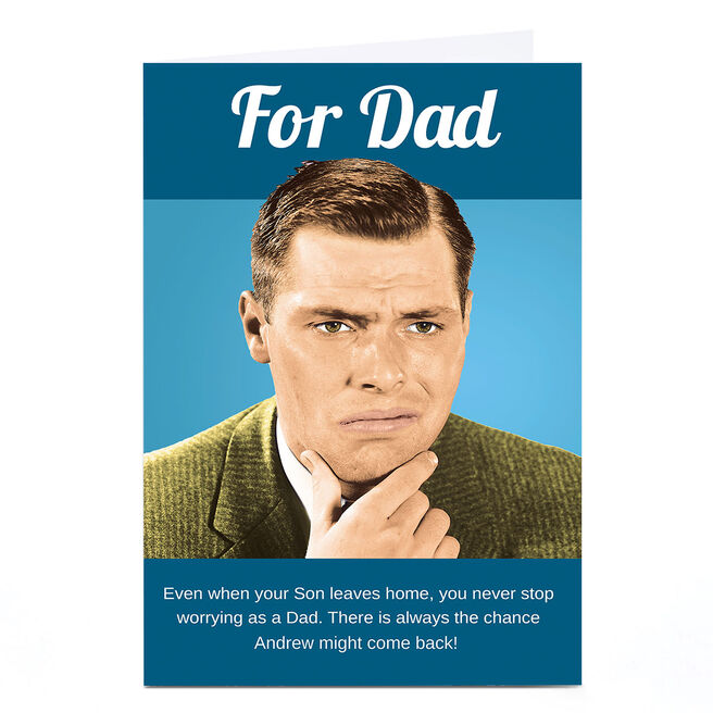 Personalised Emotional Rescue Father's Day Card - Never Stop Worrying