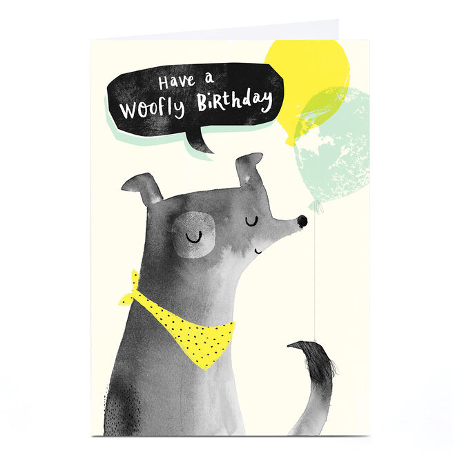 Personalised Andrew Thornton Birthday Card - Woofly Birthday