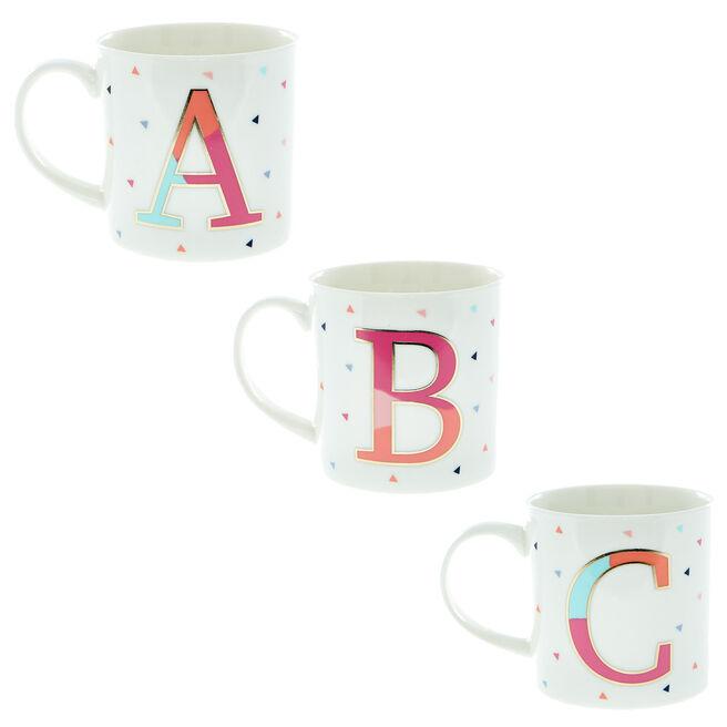 Monogram Letter Mug Range