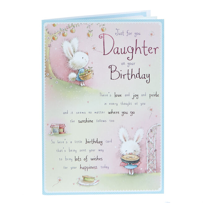 Birthday Card - Just For You Daughter