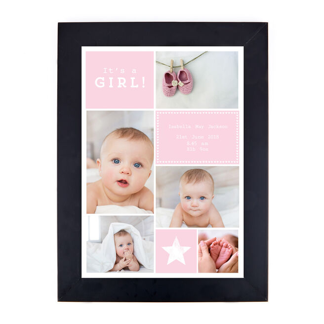 Personalised New Baby Photo Print - It's A Girl!