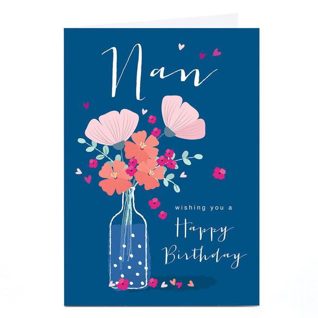 Personalised Klara Hawkins Card - Nan Flower Vase